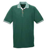 UltraClub Colored Polo Shirt w/ Multi-Striped Trim