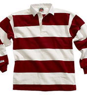Traditional Long Sleeved 4  Stripe Custom Rugby Shirt