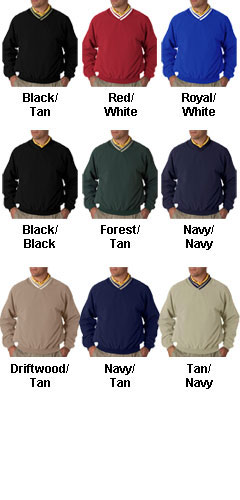 Long-sleeve Microfiber Cross-over V-neck Windshirt - All Colors