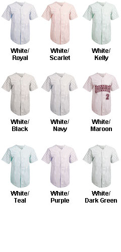 Custom Adult Pro Style Pinstripe 6 Button Front Jersey - All Colors