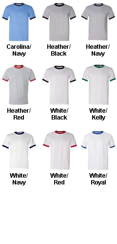 Adult Heavyweight 100% Cotton Ringer Tshirt - All Colors