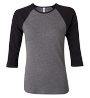 Custom Bella Ladies 3/4 Sleeve Raglan Colorblock T-Shirt