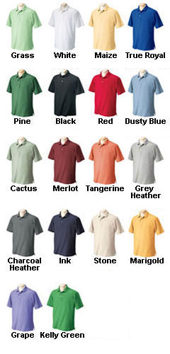 Mens Performance Plus Pique Logo Polo - All Colors