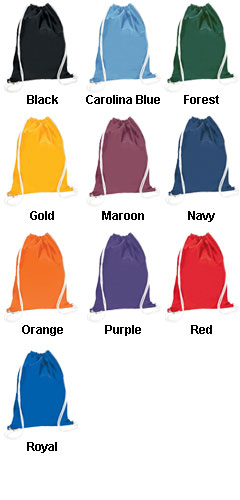 Medium Nylon Drawstring BackPack Now In Ten Colors! - All Colors