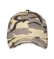 Six Panel Camouflage Caps In Six Colors