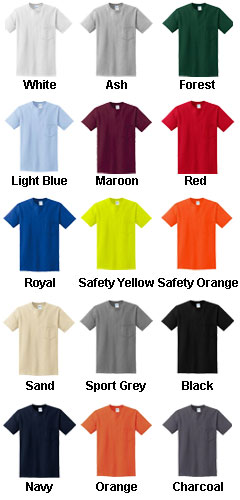 Gildan Heavyweight Ultra Cotton Adult Pocket T-shirts - All Colors